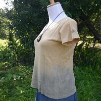 ヘンプコットン 屋久島の赤土と麻炭で染めたTシャツ