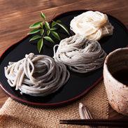 ごま麺詰め合わせ(あごだしスープ付) のうち製麺 長崎県 手延べそうめん、手延べうどんに大地のめぐみ「ゴマ」をブレンド