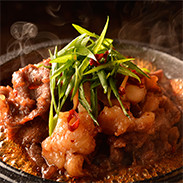 大阪名物もつ焼き 崔家の健美鍋 大阪府 国産和牛ホルモンを特製たれに漬けた一度食べるとクセになる極旨もつ焼き