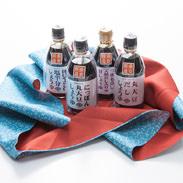 和風エコギフト300ml×4本セット 風呂敷(大)付き ニシキ醤油株式会社 奈良県 大和斑鳩の風土で醸された、4種の醤油
