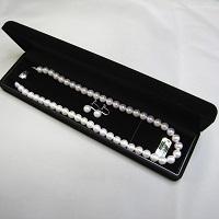 あこや真珠ネックレスとイヤリング(ピアス)セット〔ネックレス全長約42cm・真珠8.0-8.5mm〕
