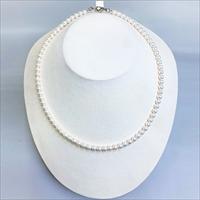 あこや本真珠5.0mmベビーパールネックレス 〔あこや本真珠5.0〜5.5mm、長さ約42cm〕 三重県 アクセサリー 伊勢志摩土産 アキヤマ