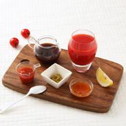 里山の恵みセット 日本一の星空阿智村より〔飲むとまと、ヘルシートマトソース、かけるトマトドレッシング、ひるがみにんにく、にんにく醤油、ゆずこしょう〕