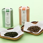 みのりの茶ギフトセット〔有機緑茶80g、有機ほうじ茶80g〕