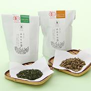 みのりの茶詰合せ2袋入り〔有機玉緑茶80g、有機ほうじ茶80g〕