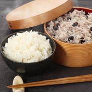 福岡県産元気つくし真空パック無洗米、筑前クロダマルごはんセット〔福岡元気つくし13個、クロダマル3個〕