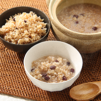 炒り玄米 あずきがゆ〔炒り玄米 140g、小豆 20g〕×6袋セット