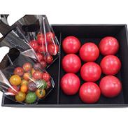 かっぺのトマト 逸級品黒箱入り〔トマトベリー(ミニ)、カラートマト(ミニ)、フルーツトマト(中玉)〕