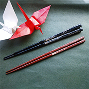 寿ぐ夫婦箸〔箸黒、赤(各1)〕