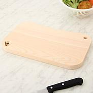 木曽ヒノキのそら豆型カッティングボード〔1枚〕