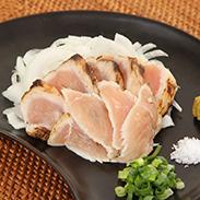 宮崎県産夢創鶏農家直送鶏たたき1人前10食セット〔鶏むねたたき60g×5袋、鶏ももたたき60g×5袋〕