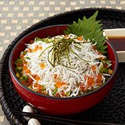 豊洋丸のしらす丼セット〔釜揚げしらす(300g)×2袋、しらすの丼タレ(200ml)×2本〕