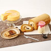 五峰もちもちロール ふわとろチーズ 那須御養卵極生プリン 五峰餅セット〔ケーキ2種、プリン、五峰餅〕