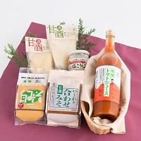やさか共同農場 島根県 有機特産品セット 〔トマトジュース・玄米甘酒・白米甘酒・塩こうじ・やさか合わせみそ・白みそ〕