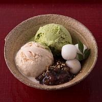 お茶屋さんのあいすくりーむ8個セット〔お茶×3・ラム干し柿・きな粉・ミルク・チョコ・バニラ各×1〕