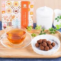 洋風豆菓子と紅茶のプチギフト キャトルクローバー ティラミス味 3個セット〔(豆菓子40g・紅茶2g)×3個〕