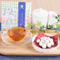 プチギフト キャトルクローバー ホワイトチョコ味 2セット〔(豆菓子40g・紅茶2g)×2個〕