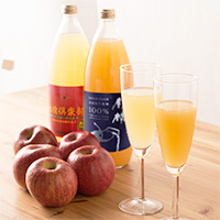 五代農産加工 つがる岩木完熟りんご 果汁100%ジュース 林檎倶楽部 飲み比べセット〔1000ml×2種×各3〕