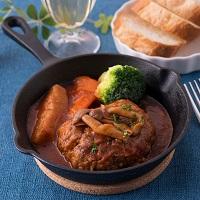 イエローキッチン イタリアンキーマカレーと佐賀牛煮込みハンバーグ セット〔カレー×3・ハンバーグ×3〕