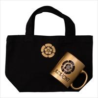おれんじくろーばー 織田信長 金色マグカップ キャンバスランチトートバッグ セット