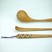 プラム工芸 斧折樺の肩たたき まごの手セット〔肩たたき×1・まごの手×1〕