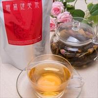 バラの花 鉄観音 ハクゴウギンシン ブレンド 美容と健康 豊富な栄養素 雅鷺健美茶 茶葉〔100g〕