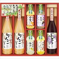 美食ファクトリー 100%ジュース&果汁入りスカッシュ(NJSシリーズ)D〔全6種7個〕