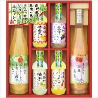 産地くだもの厳選 こだわり飲料とフルーツ炭酸セット RJS-40 〔ジュース(りんご・もも)、スカッシュ(巨峰・柚子・甘夏)×各1〕 美食ファクトリー