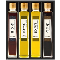 日下部味噌醤油店「渾身の醤油」と健康志向オイル OKU-27 〔炒め物醤油、卵かけ醤油、オリーブオイル、米油〕 調味料セット