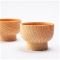 匹見のヒノキ間伐で作った小鉢2個セット 〔内容量約80ml×2〕 島根県 木製食器 Hikimi 森の器 工房吉昭