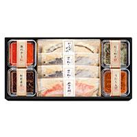 祇園又吉 西京漬と海鮮漬 〔さわら×2、金目鯛・からすがれい、松前漬、数の子うに 他全7種計8個〕 兵庫県 魚