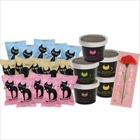 母の日 イーペルの猫祭り チョコアイスアソート 〔アイス全7種×計20個 カーネーション付(造花)〕 アイスクリーム