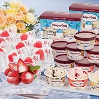 ハーゲンダッツ&苺アイス A-HGD 〔ハーゲンダッツラバーズアソート(3種×各2)×2・苺アイス×9〕 アイスクリーム 洋菓子