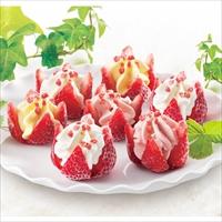 父の日ギフト 博多あまおう 花いちごのアイス F-A-D7 〔練乳×3、イチゴ・マンゴー×各2〕 アイス 洋菓子