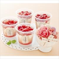 母の日ギフト 博多あまおう たっぷり苺のアイス プリザーブドフラワー付き M-A-PAT 〔74ml×4〕 洋菓子