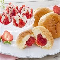 母の日ギフト 博多あまおう花いちごのアイス&八天堂あまおうくりーむパン M-A-HAC 〔花いちご×4・あまおうくりーむパン×3〕 洋菓子