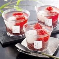 苺一会 あまおう苺と小豆の涼やかゼリー YF-AMZ 〔110g×6〕 ゼリー 洋菓子