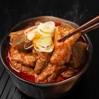 ジャン辛もつ煮 1人前×4個(箱入り) 〔240g×4〕 群馬県 レトルト惣菜 かみなり太郎