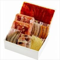 テルツィーナ イタリアン鍋 〔トマトスープ、鶏肉、豚肉、ソーセージ2種、イカリング、無頭エビ、生パスタ〕 鍋セット