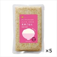 玄米ごはん プレーン レトルトご飯 5個 〔160g×5〕 東京都 無添加 レトルトごはん チャヤ マクロビオティックス