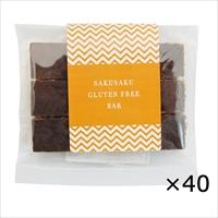 SAKU SAKU グルテンフリーバー 40個 〔40個入〕 シリアルバー 焼き菓子 東京 チャヤ マクロビオティックス