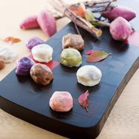 熊本いきなり団子 15個 セット〔プレーン・紫芋・よもぎ・黒糖・さくら 全5種 各80g×3〕 和菓子