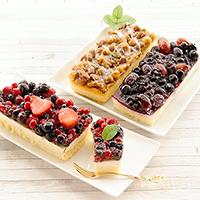 フルーツとナッツのケーキ3種セット 〔レアチーズケーキ×2、キャラメルケーキ×1〕 洋菓子