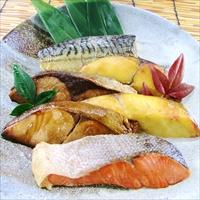 レンジで簡単 焼魚 RY-40 〔さわら西京焼、銀ひらす西京焼、銀ひらす照焼、紅鮭塩焼、ぶり照焼、さば塩焼〕 魚介類 惣菜