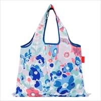 ショッピングバッグ Floral drop 〔W53×H40cm、持ち手20cm〕 バッグ エコバッグ