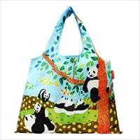 ショッピングバッグ パンダの午後 〔W53×H40cm、持ち手20cm〕 バッグ エコバッグ