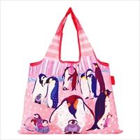 ショッピングバッグ ペンギンの集会 〔W53×H40cm、持ち手20cm〕 バッグ エコバッグ