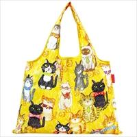 ショッピングバッグ 猫が整列したら 〔W53×H40cm、持ち手20cm〕 バッグ エコバッグ