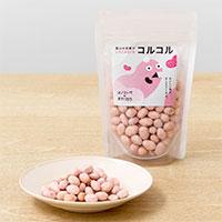 富山の豆菓子いちごみるく豆 コルコル 〔80g×6〕 豆菓子 お菓子 オノマトペのおやつたち