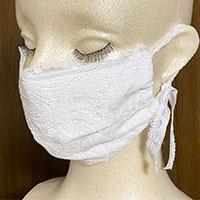 しるくレースマスク 抗菌加工仕様 1枚 〔18×11cm〕 おしゃれ マスク 日本製 群馬 Silk Story Japan
